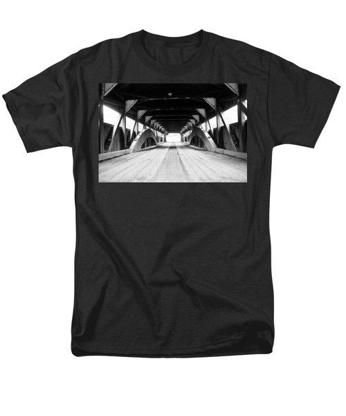Taftsville Covered Bridge Men's T-Shirt  (Regular Fit) by Greg Fortier