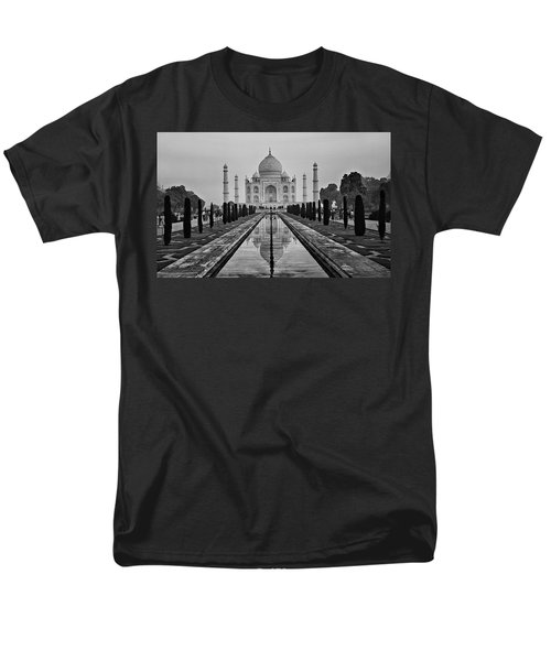 Taj Mahal In Black And White Men's T-Shirt  (Regular Fit) by Jacqi Elmslie