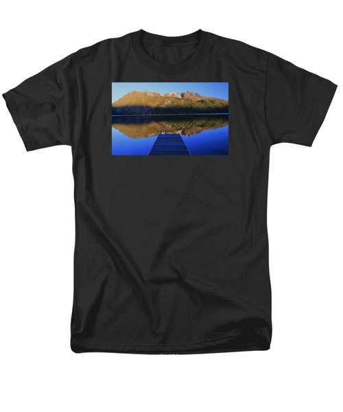 Men's T-Shirt  (Regular Fit) featuring the photograph Take A Long Walk Off A Short Pier  by Sean Sarsfield