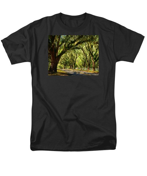 Tallahassee Canopy Road Men's T-Shirt  (Regular Fit) by Carla Parris