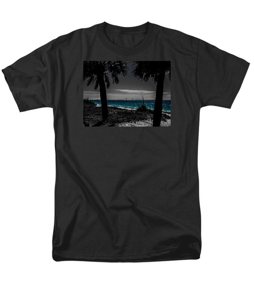 Men's T-Shirt  (Regular Fit) featuring the photograph Tampa Bay Blue by Randy Sylvia