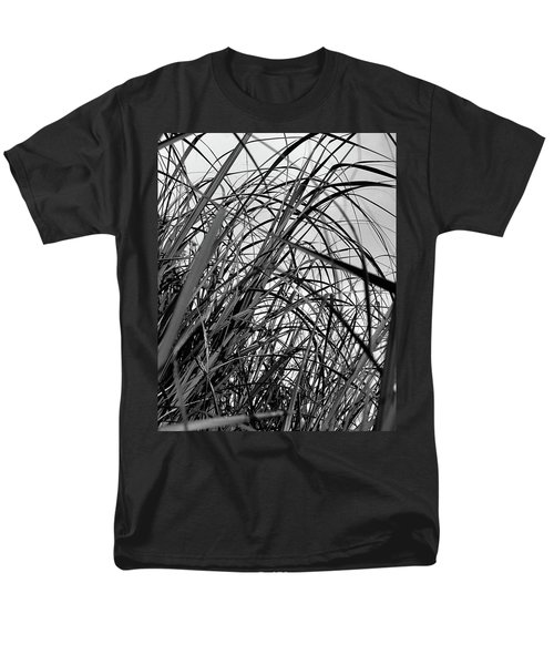 Men's T-Shirt  (Regular Fit) featuring the photograph Tangled Grass by Susan Capuano