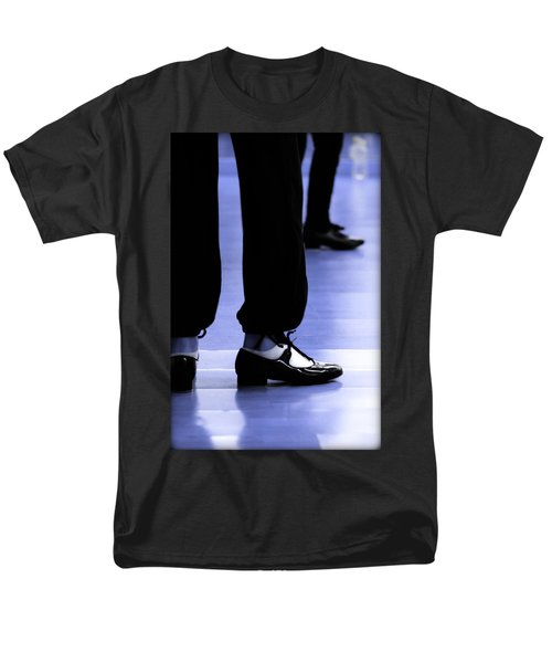 Tap Dance In Blue Are Shoes Tapping In A Dance Academy Men's T-Shirt  (Regular Fit) by Pedro Cardona