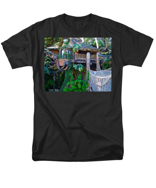 Tarzan Treehouse Men's T-Shirt  (Regular Fit) by Karon Melillo DeVega