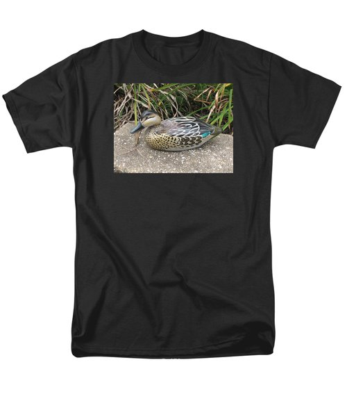 Teal Winged Female Men's T-Shirt  (Regular Fit) by Kevin F Heuman