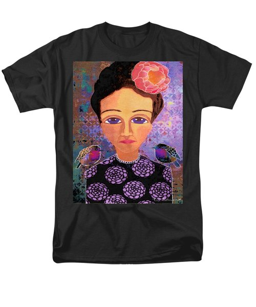 Men's T-Shirt  (Regular Fit) featuring the digital art Telling Secrets by Lisa Noneman
