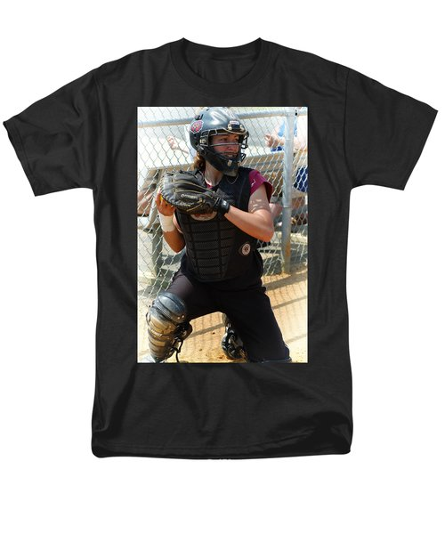 Temple University Bullpen Catcher Men's T-Shirt  (Regular Fit)