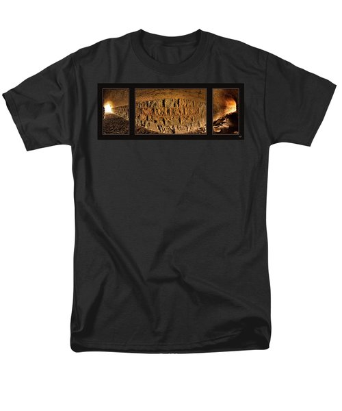 Men's T-Shirt  (Regular Fit) featuring the photograph Terry Tunnel Triptych by Leland D Howard