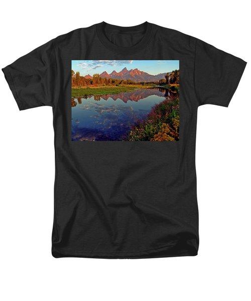 Teton Wildflowers Men's T-Shirt  (Regular Fit) by Scott Mahon