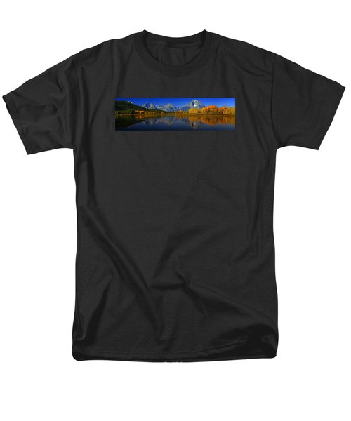 Tetons From Oxbow Bend Men's T-Shirt  (Regular Fit) by Raymond Salani III