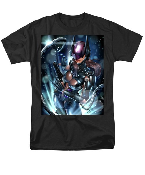 Men's T-Shirt  (Regular Fit) featuring the painting Tetsuya Nomura Catwoman by Pete Tapang