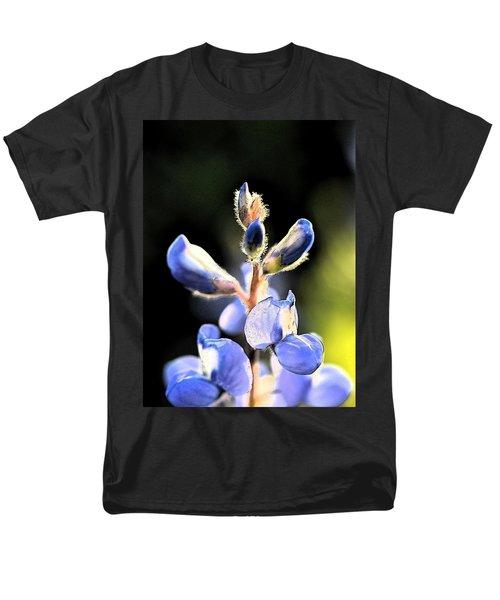 Men's T-Shirt  (Regular Fit) featuring the photograph Texas Blue Bonnet Impressions 1 by Carolina Liechtenstein