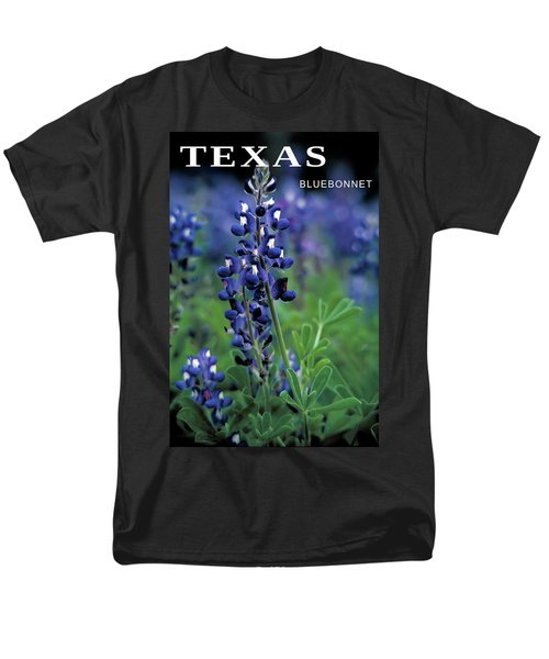 Men's T-Shirt  (Regular Fit) featuring the mixed media Texas Bluebonnet State Flower by Daniel Hagerman
