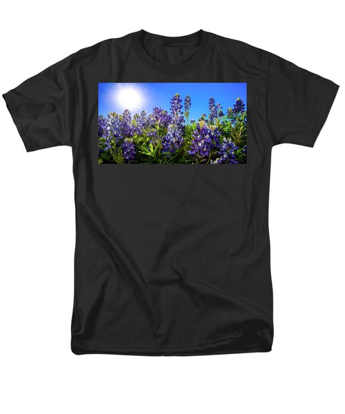 Texas Bluebonnets Backlit II Men's T-Shirt  (Regular Fit) by Greg Reed