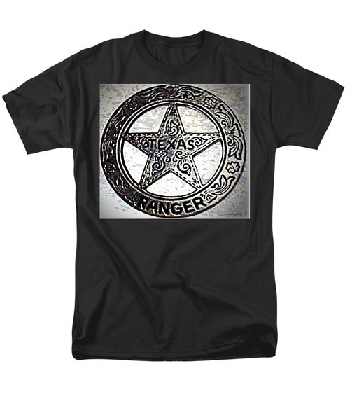 Men's T-Shirt  (Regular Fit) featuring the photograph Texas Ranger Badge by George Pedro
