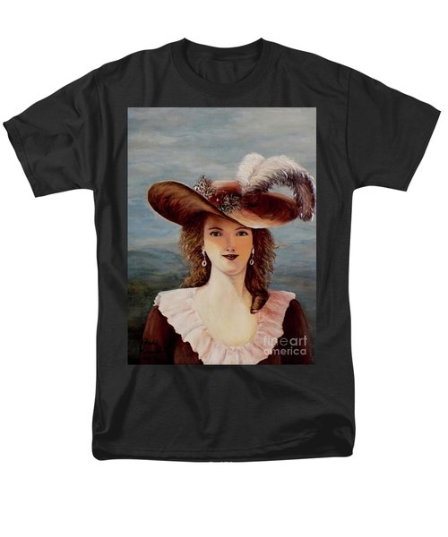 That Feather In Her Hat Men's T-Shirt  (Regular Fit) by Judy Kirouac