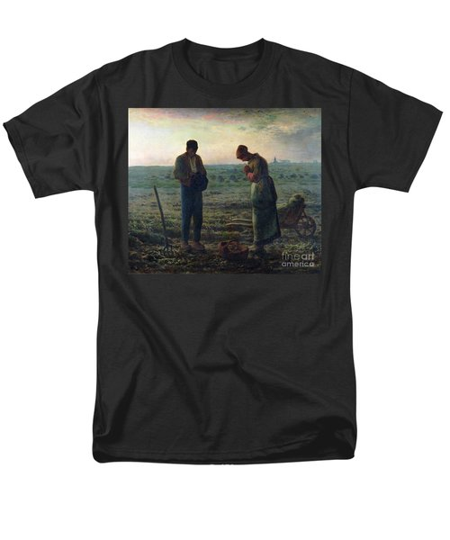 The Angelus Men's T-Shirt  (Regular Fit) by Jean-Francois Millet