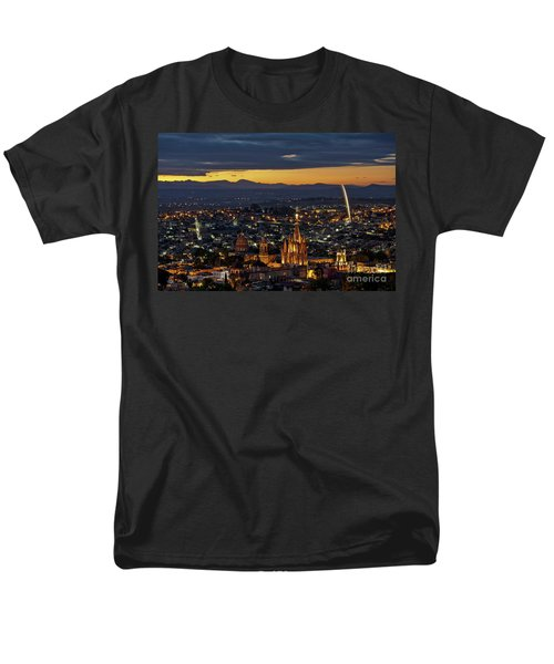 The Beautiful Spanish Colonial City Of San Miguel De Allende, Mexico Men's T-Shirt  (Regular Fit) by Sam Antonio Photography