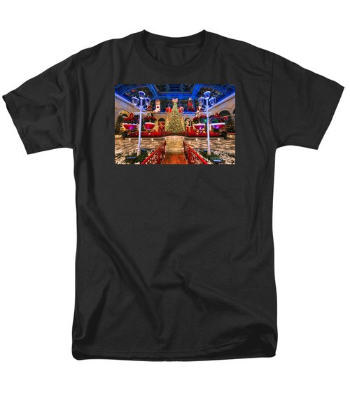 The Bellagio Christmas Tree And Decorations 2015 Men's T-Shirt  (Regular Fit) by Aloha Art