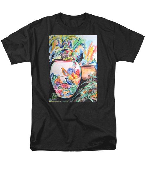 The Bird Flower Pot Men's T-Shirt  (Regular Fit) by Esther Newman-Cohen