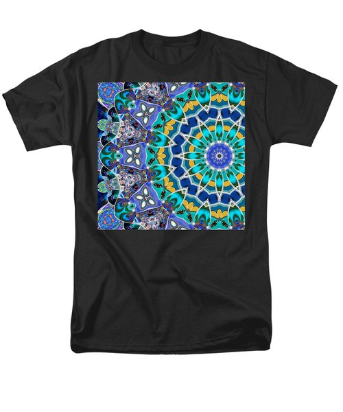 Men's T-Shirt  (Regular Fit) featuring the digital art The Blue Collective 04b by Wendy J St Christopher