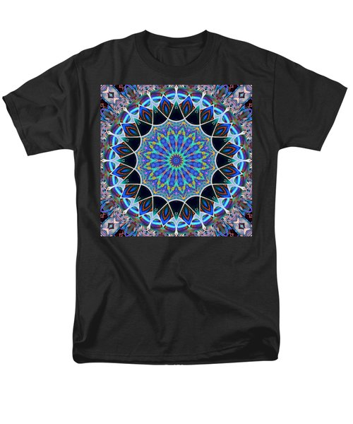 Men's T-Shirt  (Regular Fit) featuring the digital art The Blue Collective 09 by Wendy J St Christopher