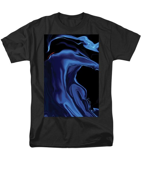 Men's T-Shirt  (Regular Fit) featuring the digital art The Blue Kiss by Rabi Khan