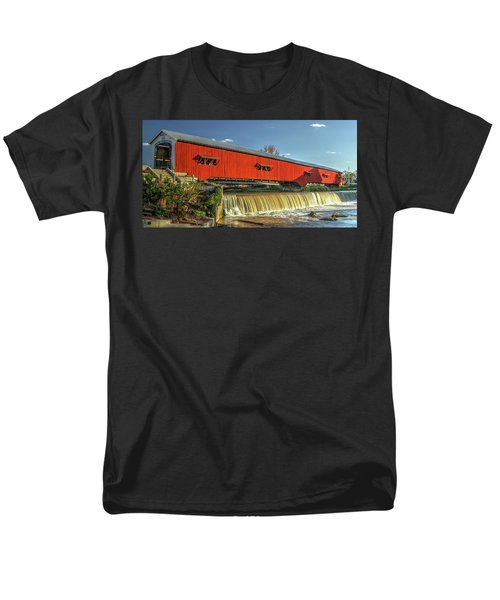 Men's T-Shirt  (Regular Fit) featuring the photograph The Bridgeton Covered Bridge by Harold Rau
