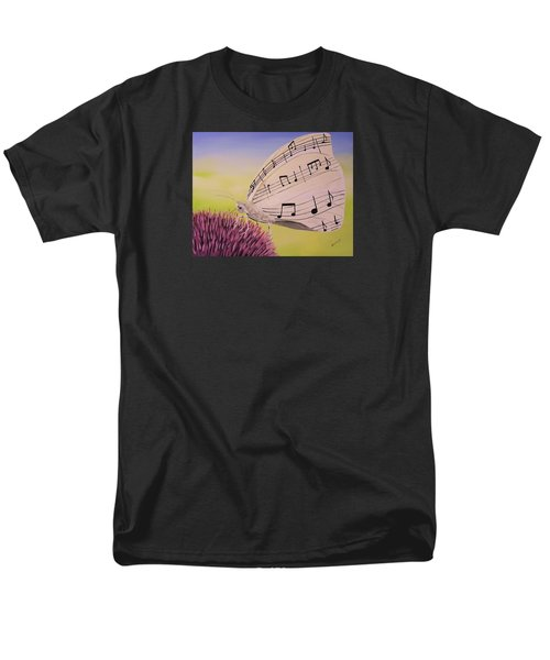 Men's T-Shirt  (Regular Fit) featuring the painting Butterfly Song by Edwin Alverio