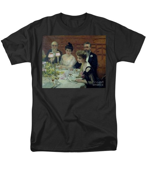 The Corner Of The Table Men's T-Shirt  (Regular Fit) by Paul Chabas