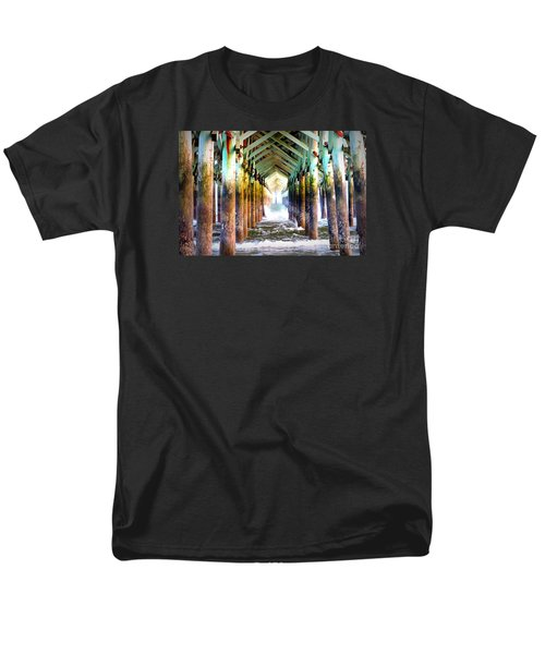 Men's T-Shirt  (Regular Fit) featuring the photograph The Cross Before Us by Shelia Kempf
