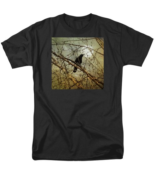 The Crow And The Moon Men's T-Shirt  (Regular Fit) by Theresa Tahara