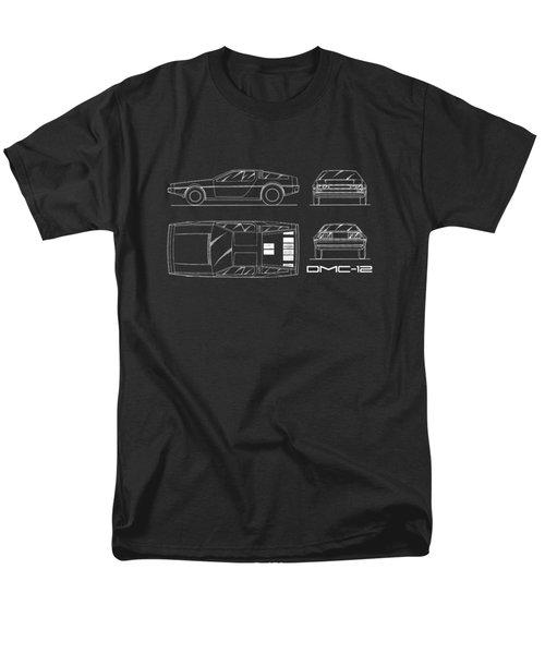 The Delorean Dmc-12 Blueprint Men's T-Shirt  (Regular Fit) by Mark Rogan