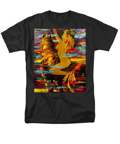 The Eternal Sea - Self Portrait Men's T-Shirt  (Regular Fit) by Karon Melillo DeVega