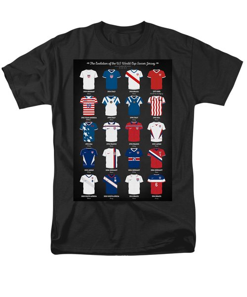 The Evolution Of The Us World Cup Soccer Jersey Men's T-Shirt  (Regular Fit) by Taylan Apukovska