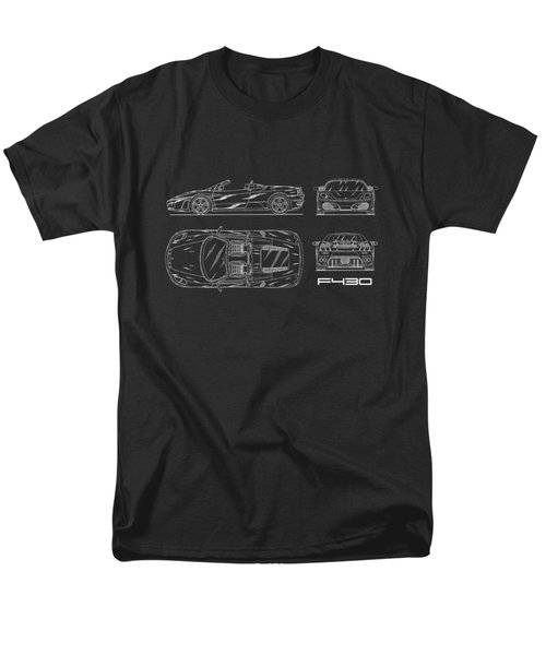 The F430 Blueprint Men's T-Shirt  (Regular Fit)