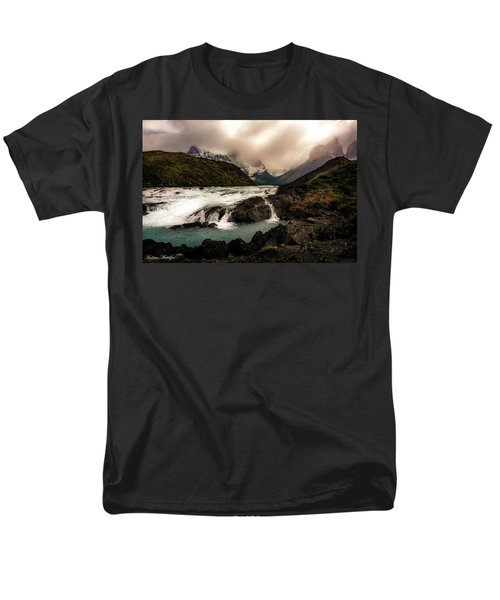 Men's T-Shirt  (Regular Fit) featuring the photograph The Falls by Andrew Matwijec