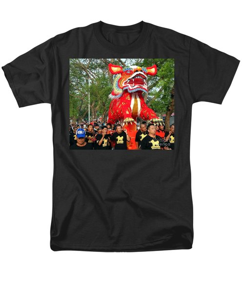 The Fire Lion Procession In Southern Taiwan Men's T-Shirt  (Regular Fit)