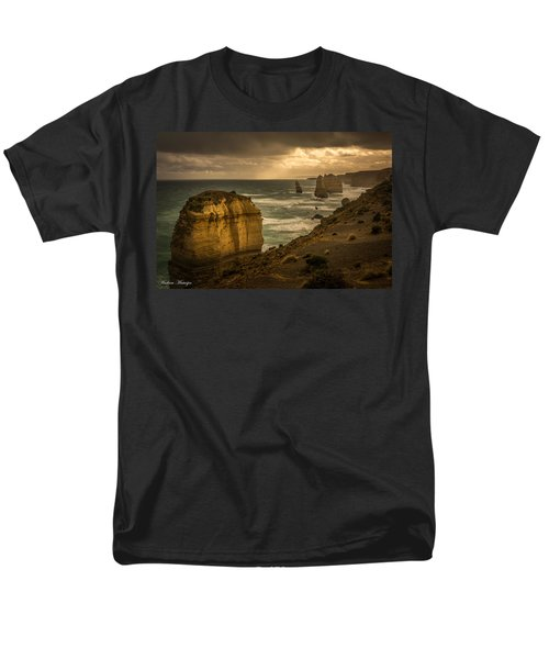 Men's T-Shirt  (Regular Fit) featuring the photograph The Fire Sky by Andrew Matwijec