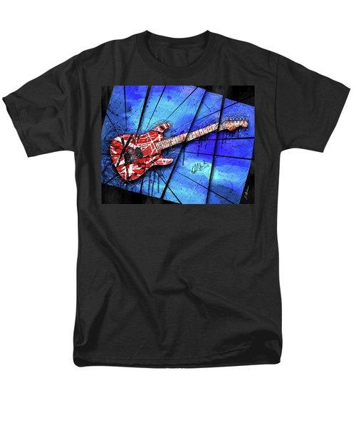 The Frankenstrat On Blue I Men's T-Shirt  (Regular Fit)