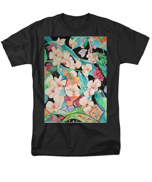 The Gallery Of Orchids 1 Men's T-Shirt  (Regular Fit) by Esther Newman-Cohen