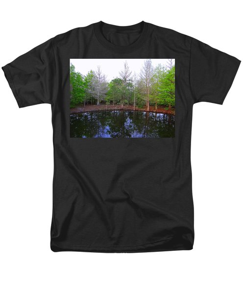 The Gator Hole At Green Cay In Florida Men's T-Shirt  (Regular Fit) by David Mckinney