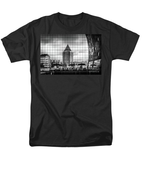 Men's T-Shirt  (Regular Fit) featuring the photograph The Glass Windows Of The Market Hall In Rotterdam by RicardMN Photography