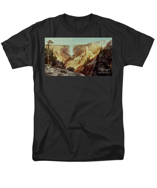 The Grand Canyon Of The Yellowstone Men's T-Shirt  (Regular Fit) by Thomas Moran