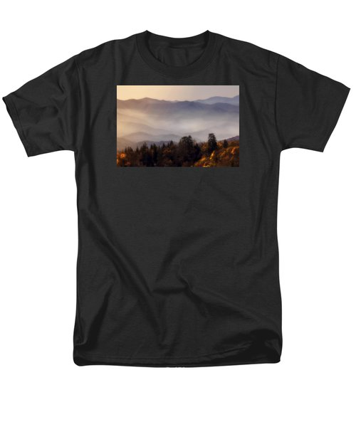 Men's T-Shirt  (Regular Fit) featuring the photograph The Great Smoky Mountains by Ellen Heaverlo