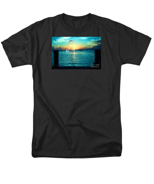Men's T-Shirt  (Regular Fit) featuring the painting The Gull by Judy Kay