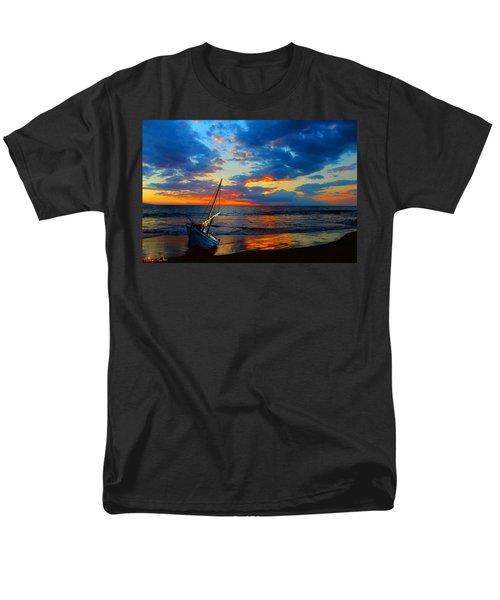 The Hawaiian Sailboat Men's T-Shirt  (Regular Fit) by Michael Rucker