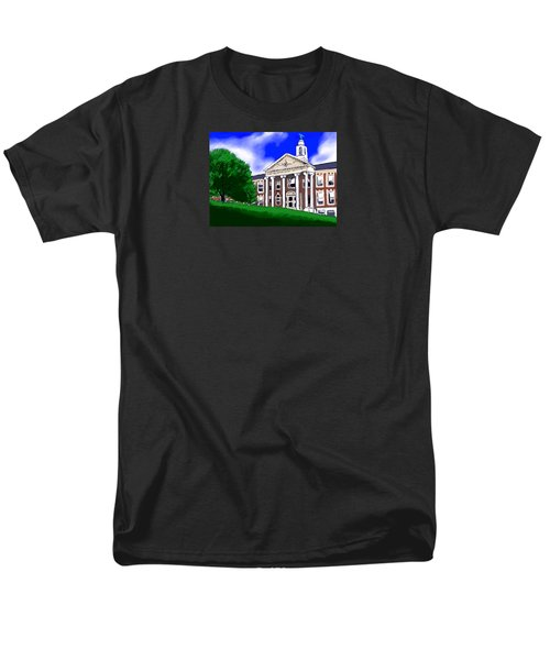 Men's T-Shirt  (Regular Fit) featuring the painting The Hill by Jean Pacheco Ravinski