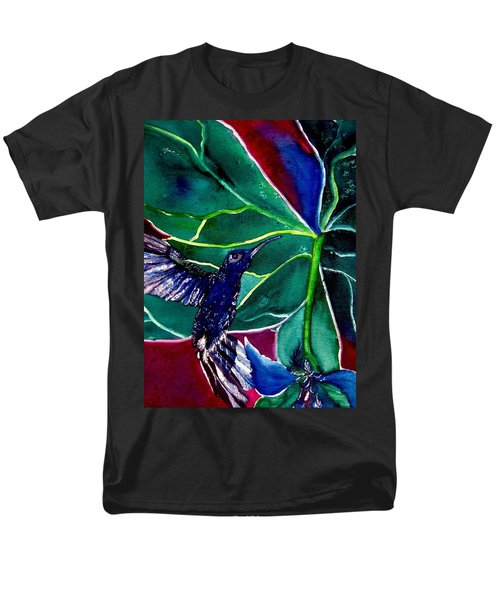 The Hummingbird And The Trillium Men's T-Shirt  (Regular Fit) by Lil Taylor