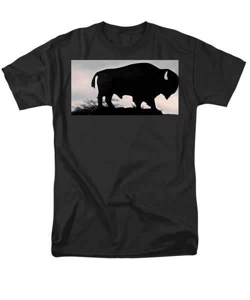 Men's T-Shirt  (Regular Fit) featuring the photograph The Iron Buffalo Push by John Glass